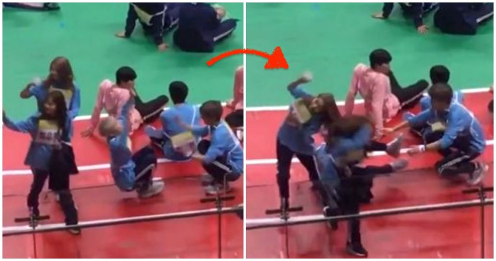 AB6IX's Jeon Woong Crashed Into A Female Idol While Monkeying Around With Fellow Member Donghyun