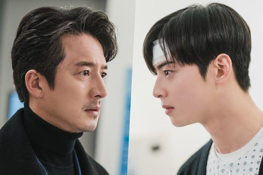 """Cha Eun Woo Has An Emotional Confrontation With His Father Jung Joon Ho In """"True Beauty"""""""