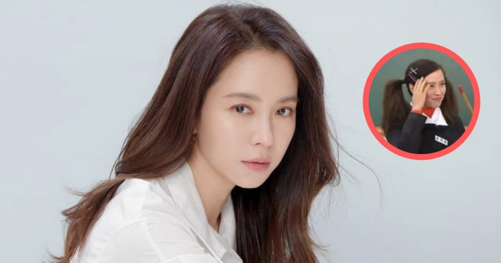 "Song Ji Hyo Stuns ""Running Man"" Cast With Her Youthful Pigtails At 41 Years Old"