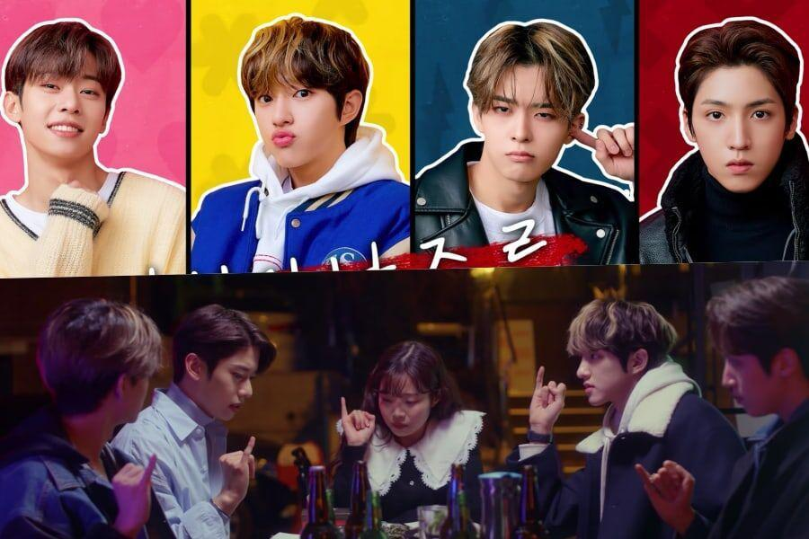 Watch: AB6IX's Kim Dong Hyun, Golden Child's Jaehyun, VICTON's Subin, And PENTAGON's Wooseok Star In Web Drama Teaser