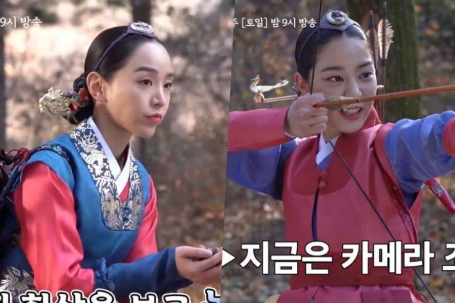 """Watch: Shin Hye Sun And Seol In Ah Showcase Their Silly Sides On Set Of """"Mr. Queen"""""""