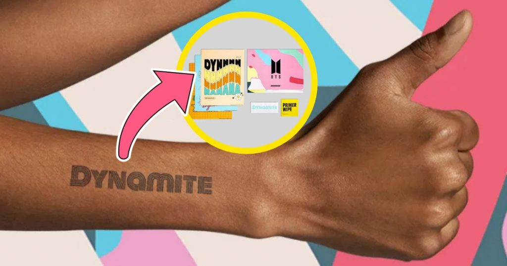 BTS Releases Dynamite Temporary Tattoo Collection With Inkbox