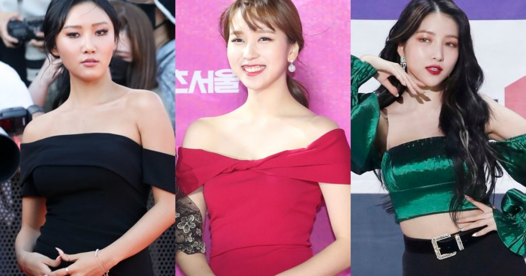 Dispatch Selects the Female Idols Who Rock the Off-Shoulder Look