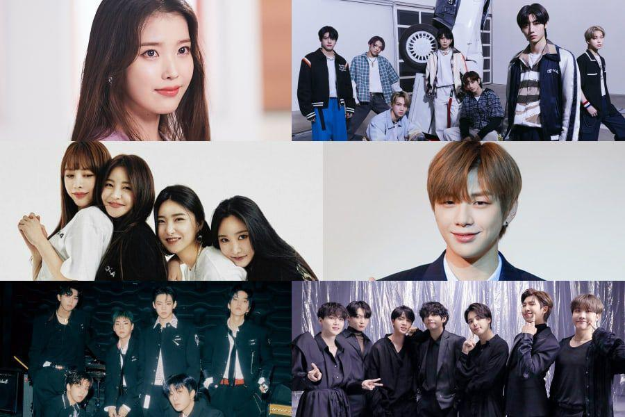 IU, ENHYPEN, Brave Girls, Kang Daniel, ONF, And BTS Top Gaon Monthly And Weekly Charts