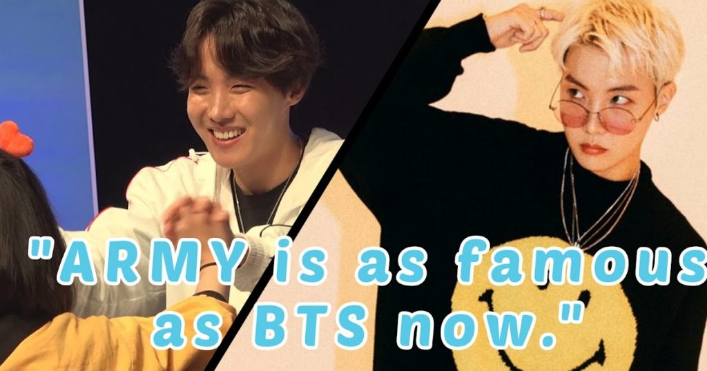 BTS's J-Hope Believes That ARMY Is As Famous As BTS Now