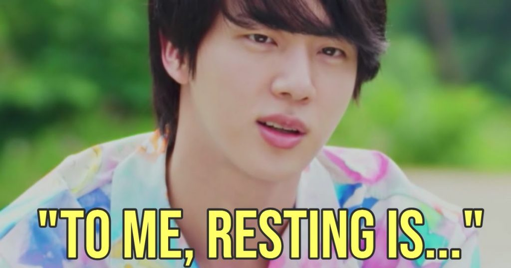 BTS's Jin Has The Best Philosophy On The Importance Of Rest, And We 100% Agree With Him