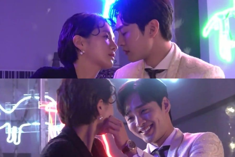 """Watch: Park Gyu Young And Kim Min Jae Get Affectionate Filming Romantic Kiss Scene For """"Dali And Cocky Prince"""""""
